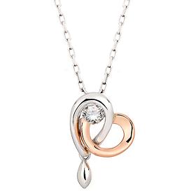 "<b><font color=""b400b0"" >[Part 1 Modern emotions]</font></b> <br> 14K / 18K Love Drop Natural Diamond Necklace"