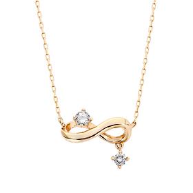 "<b><font color=""b400b0"" >[Part 1 Modern emotions]</font></b> <br> 14K / 18K Infiniti Natural Diamond Necklace"