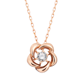 "<b><font color=""b400b0"" >[Part 1 Contemporary Emotion]</font></b> <br> 14K / 18K Beauty Flower Natural Diamond Necklace"