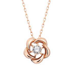 "<b><font color=""b400b0"" >[Part 1 Modern emotions]</font></b> <br> 14K / 18K Beauty Flower Natural Diamond Necklace"