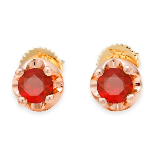 January Birthstone 4mm Natural garnet Tiara Earrings