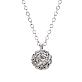 "<b><font color=""b400b0"" >[Part 1 Contemporary Emotion]</font></b> <br> 14k / 18k Mister Part 1 Diamond Necklace [overnightdelivery]"