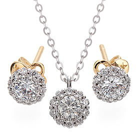 "<b><font color=""b400b0"" >[Part 1 Contemporary Emotion]</font></b> <br> 14k / 18k Myster Natural Diamond set [Necklace + earring]"