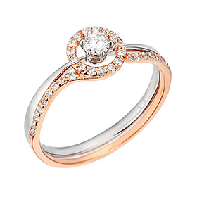 "<b><font color=""b400b0"" >[Part 1 Contemporary Emotion]</font></b> <br> 14k Eterno natural diamond ring [No. 11 only overnightdelivery]"