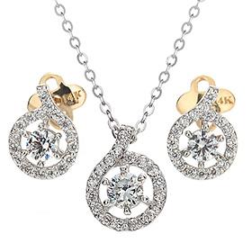 "<b><font color=""b400b0"" >[Part 1 Contemporary Emotion]</font></b> <br> 14k / 18k ethernet natural diamond set [Necklace + earring]"