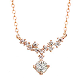 "<b><font color=""b400b0"" >[Part 1 Contemporary Emotion]</font></b> <br> 14k / 18k Lactea Natural Diamond Necklace"
