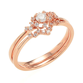 "<b><font color=""b400b0"" >[Part 1 Contemporary Emotion]</font></b> <br> 14k / 18k Lacta natural diamond ring [No. 11 only overnightdelivery]"