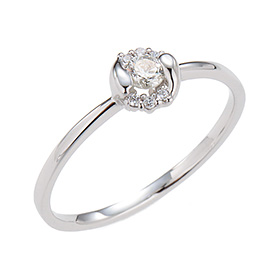 "<b><font color=""b400b0"" >[Part 1 Contemporary Emotion]</font></b> <br> 14k / 18k Briana natural diamond ring"