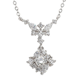 "<b><font color=""b400b0"" >[Part 1 Contemporary Emotion]</font></b> <br> 14k / 18k Cordelia Natural Diamond Necklace"