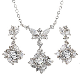 "<b><font color=""b400b0"" >[Part 1 Contemporary Emotion]</font></b> <br> 14k / 18k Cordelia natural diamond set [Necklace + earring]"