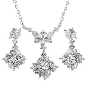 "<b><font color=""b400b0"" >[Part 1 Contemporary Emotion]</font></b> <br> 14k / 18k Cordelia natural diamond set [Necklace + earring]"