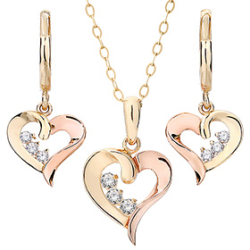 14K / 18K Lila Love set [Necklace + earring] [overnightdelivery]