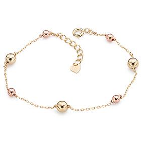 14k bead ball bracelet