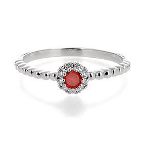 <b>[1month garnet]</b> <br> 14k / 18k Natural Birthstone Muse Ring