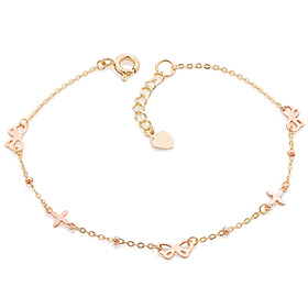 14K / 18K ribbon and cross bracelet [overnightdelivery]