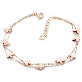 14K / 18K double line free butterfly bracelet [overnightdelivery]