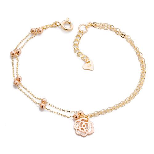 14K / 18K A rose bracelet [overnightdelivery]