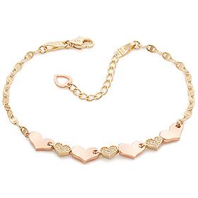14K / 18K Heart and Heart bracelet