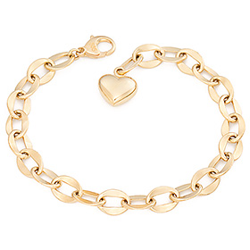 14k / 18k wave hollow (large) bracelet [overnightdelivery]