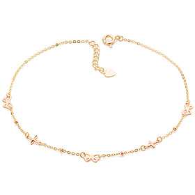 14k / 18k ribbon and cross anklet