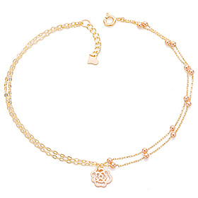 14k / 18k air rose anklet [overnightdelivery]