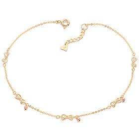 18k Bobo ribbon anklet [overnightdelivery]
