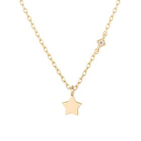 14K baby star flower Necklace [overnightdelivery]