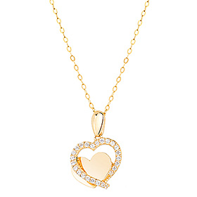 14K Foaming Heart Necklace [overnightdelivery]