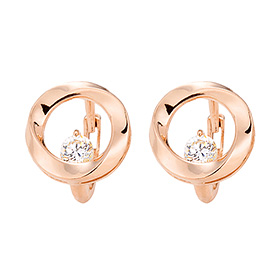 14K / 18K pink flow earring / earrings