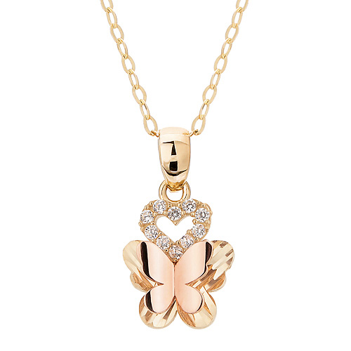 14K / 18K Ellis Butterfly Necklace [overnightdelivery]