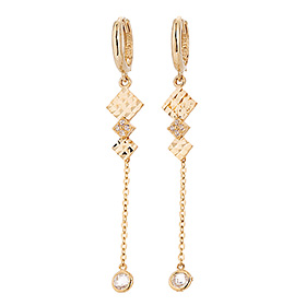 18K one round earring