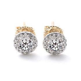 "<b><font color=""b400b0"" >[Part 1 Contemporary Emotion]</font></b> <br> 14K / 18K Daphne natural diamond earring"