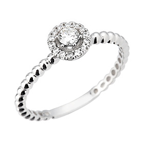 "<b><font color=""b400b0"" >[Part 1 Contemporary Emotion]</font></b> <br> 14K / 18K Daphne natural diamond ring [11 only overnightdelivery]"