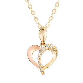14K / 18K Heart Arrow Necklace [overnightdelivery]