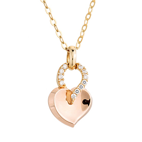14K / 18K Berry Heart Necklace