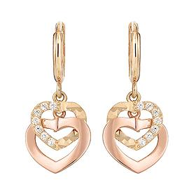 18K heart mobile earring [overnightdelivery]