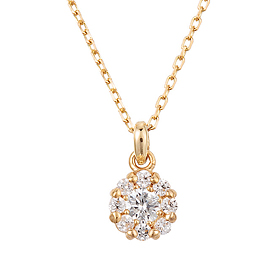 "<b><font color=""b400b0"" >[Part 1 Contemporary Emotion]</font></b> <br> 14K / 18K Sweet Dreams Part 1 Diamond Necklace"