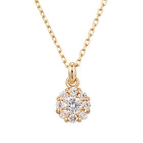 """<b><font color=""""b400b0"""" >[Part 1 Modern emotions]</font></b> <br> 14K / 18K Suit Dream 0.1ct Diamond Necklace"""