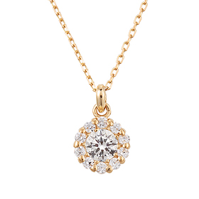 "<b><font color=""b400b0"" >[Part 2 Modern Emotions]</font></b> <br> 14K / 18K Sweet Dream 0.2ct Diamond Necklace"