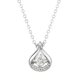 "<b><font color=""b400b0"" >[Part 1 Contemporary Emotion]</font></b> <br> 14K18K Poem Drop Part 1 Diamond Necklace"