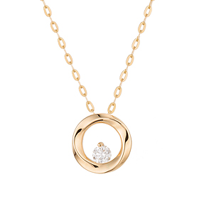 "<b><font color=""b400b0"" >[Part 1 Contemporary Emotion]</font></b> <br> 14K / 18K Prairie Part 1 Diamond Necklace"