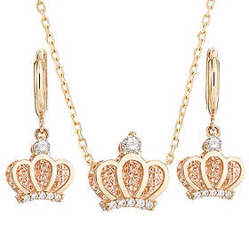 14K / 18K Mary Crown set [Necklace + earring]