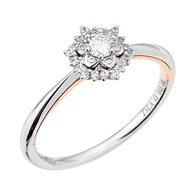 "<b><font color=""b400b0"" >[Part 1 Contemporary Emotion]</font></b> <br> 14K / 18K Ipanema part 1 diamond ring"