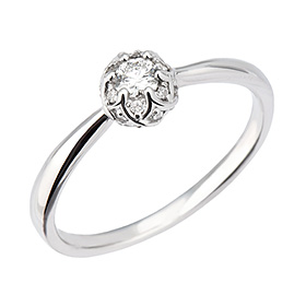 "<b><font color=""b400b0"" >[Part 1 Contemporary Emotion]</font></b> <br> 14K / 18K Vivaldi Part 1 Diamond Ring [No. 11 only overnightdelivery]"