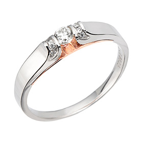 "<b><font color=""b400b0"" >[Part 1 Contemporary Emotion]</font></b> <br> 14K / 18K Special Love Part 1 Diamond Ring"