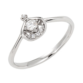 "<b><font color=""b400b0"" >[Part 1 Contemporary Emotion]</font></b> <br> 14K / 18K PoM Drop 1 part Diamond ring [No. 11 only overnightdelivery]"