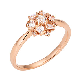 "<b><font color=""b400b0"" >[Part 1 Contemporary Emotion]</font></b> <br> 14K / 18K Love Affair 1 part Diamond ring [No. 11 only overnightdelivery]"