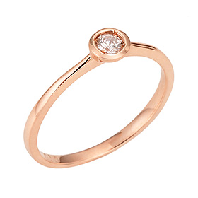 "<b><font color=""b400b0"" >[Part 1 Contemporary Emotion]</font></b> <br> 14K / 18K Moon River Part 1 Diamond Ring"