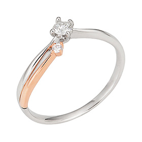 "<b><font color=""b400b0"" >[Part 1 Contemporary Emotion]</font></b> <br> 14K / 18K Anthem Part 1 Diamond Ring [No. 11 only overnightdelivery]"