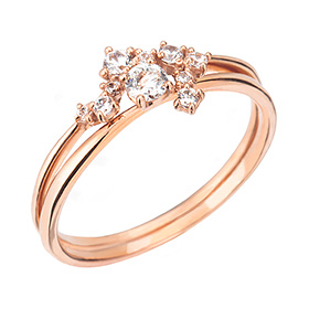 "<b><font color=""b400b0"" >[Part 1 Contemporary Emotion]</font></b> <br> 14K / 18K Disney Day Part 1 Diamond Ring [No. 11 only overnightdelivery]"